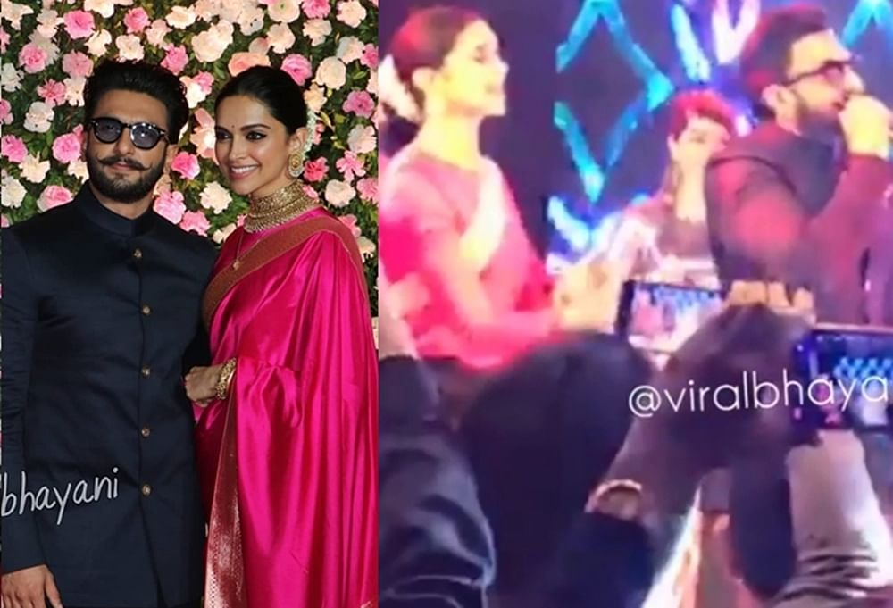 Watch Deepika, Ranveer's crazy dance on 'Aankh Maarey' from Kapil Sharma's reception