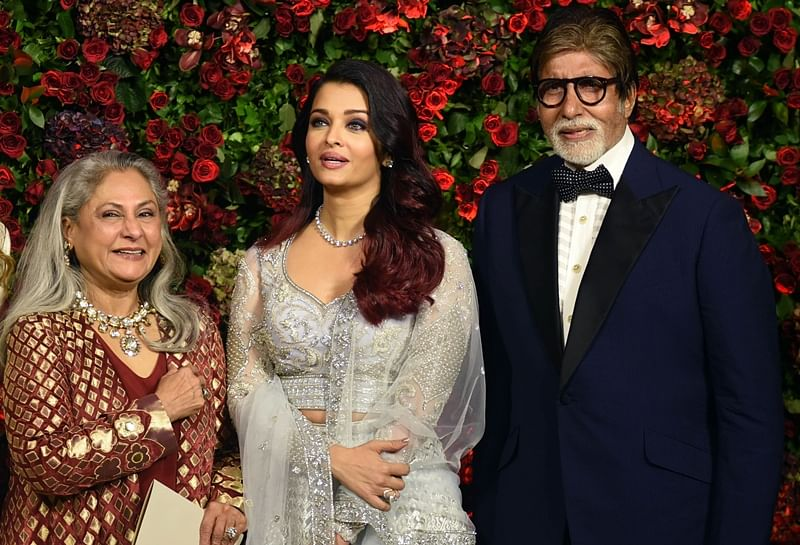 All in the family! Aishwarya Rai Bachchan rocks the dance floor with Jaya and Amitabh at DeepVeer reception