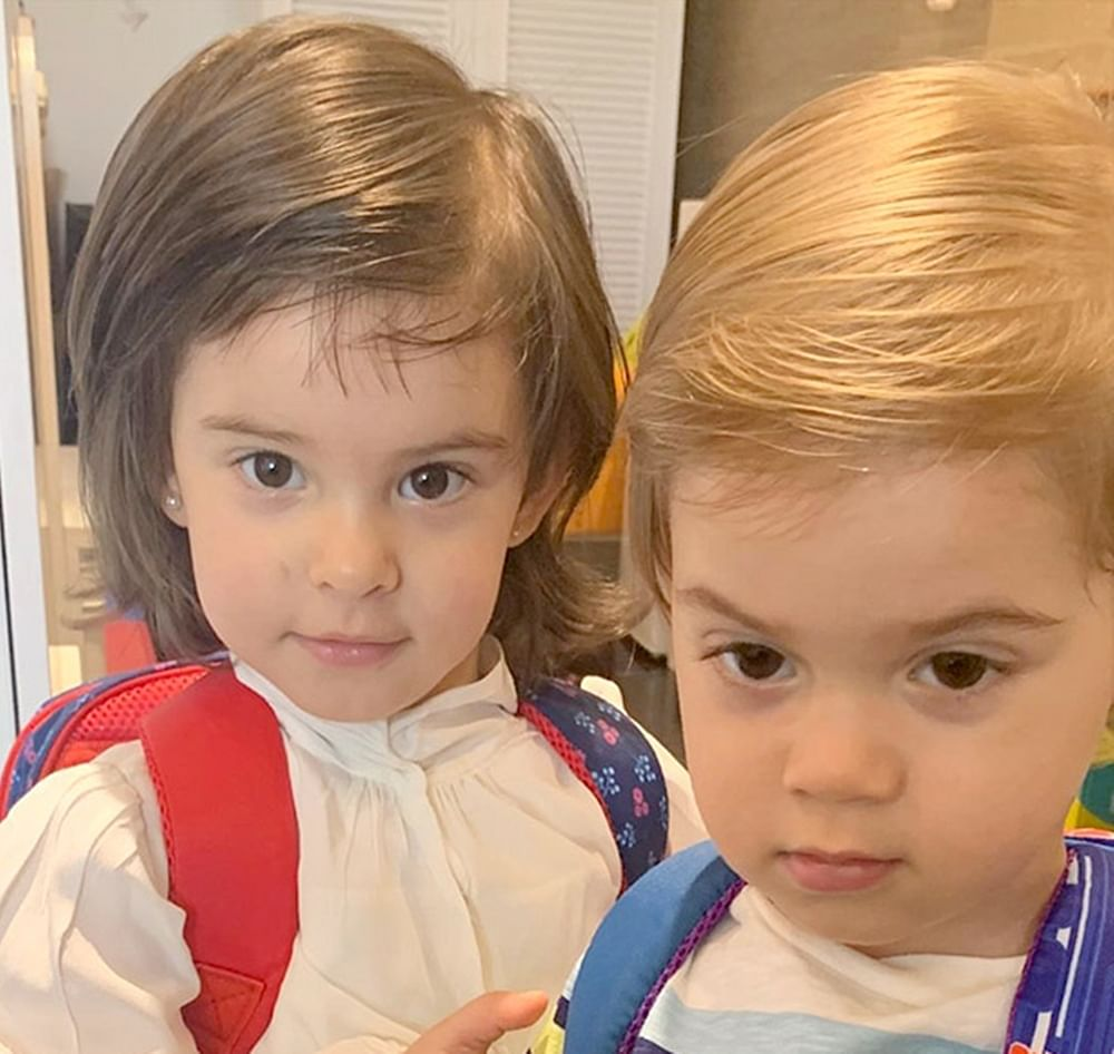 Karan Johar's children'sRoohi and Yash are off to school