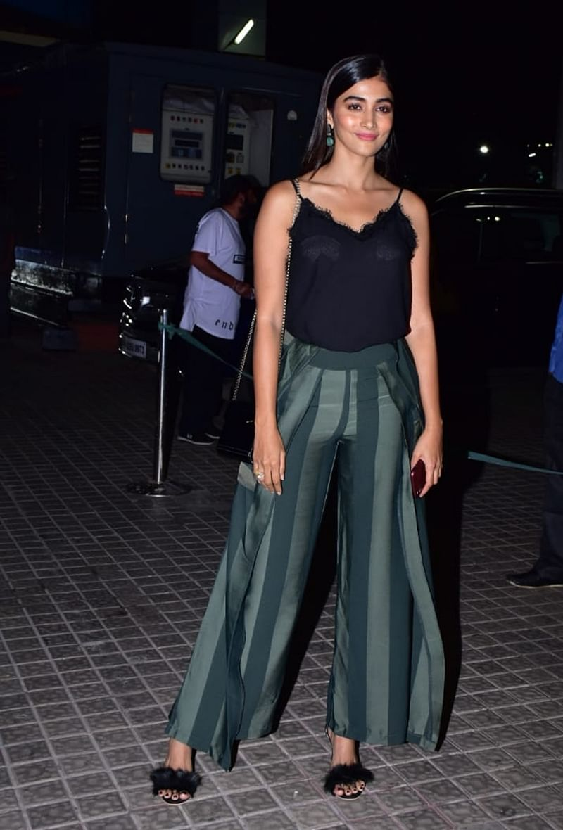 Pooja Hegde at Kedarnath special screening in Mumbai. /Photo by Viral Bhayani