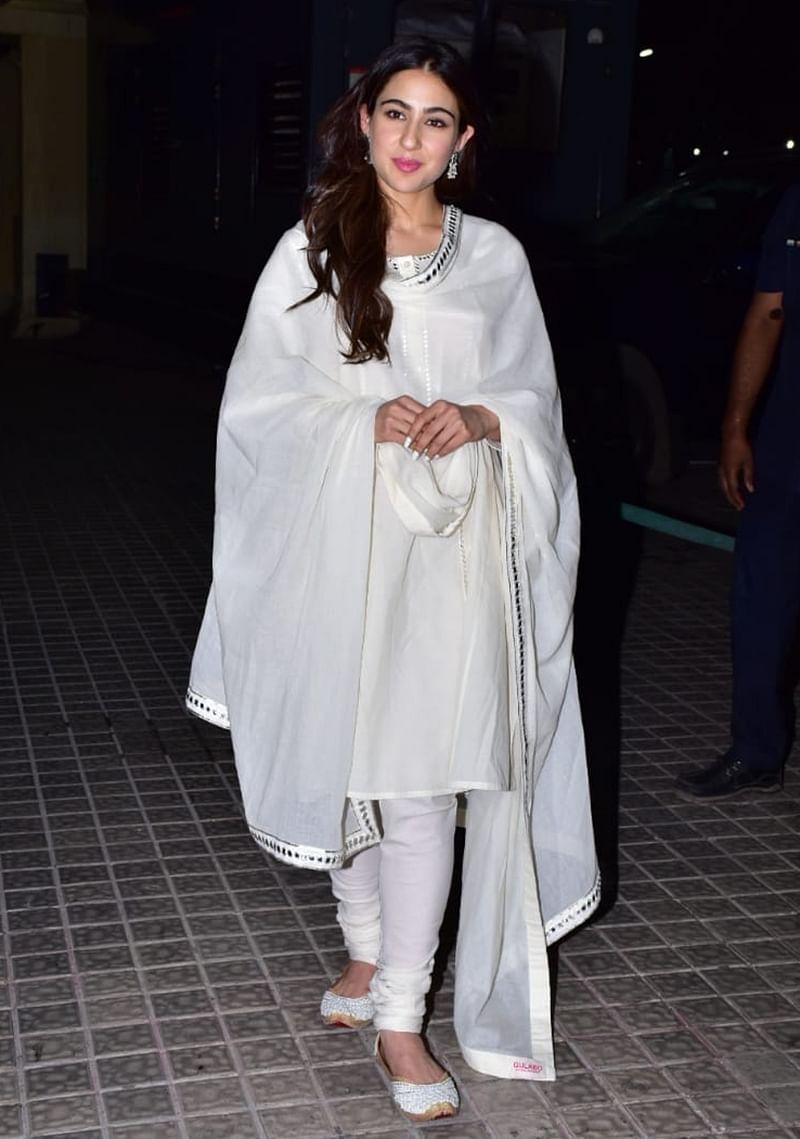 Sara Ali Khan at Kedarnath special screening in Mumbai. /Photo by Viral Bhayani