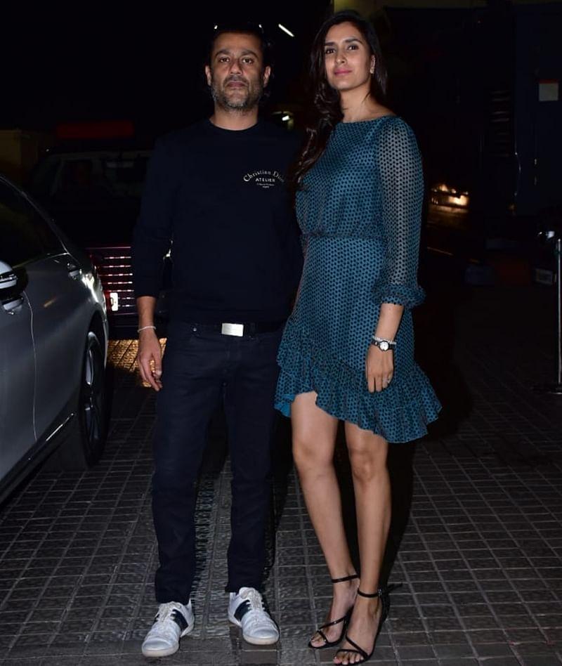 Abhishek Kapoor and wife Pragya Kapoor at Kedarnath special screening in Mumbai. /Photo by Viral Bhayani