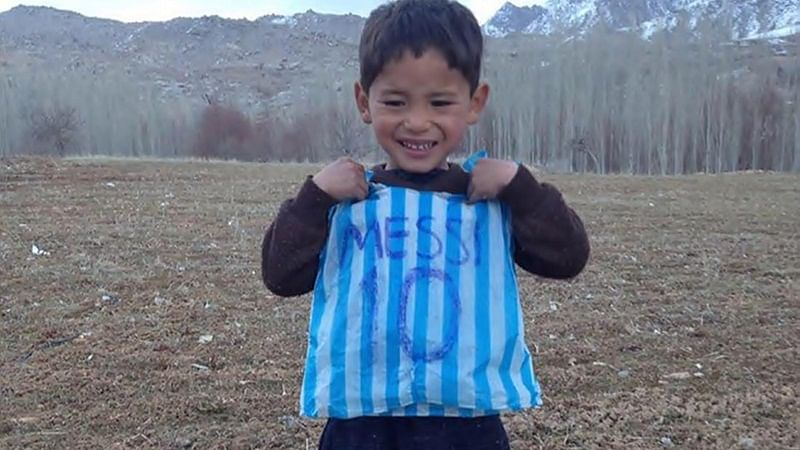 Afghan boy who shot to fame wearing Messi's plastic jursey becomes homeless due to Taliban attack