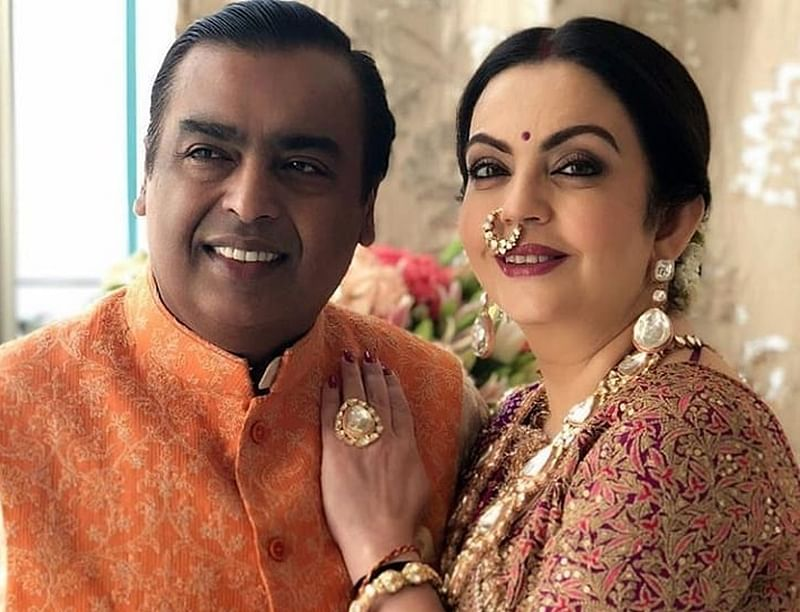 This unseen picture of Mukesh and Nita Ambani's wedding is a candid proof of how time flies