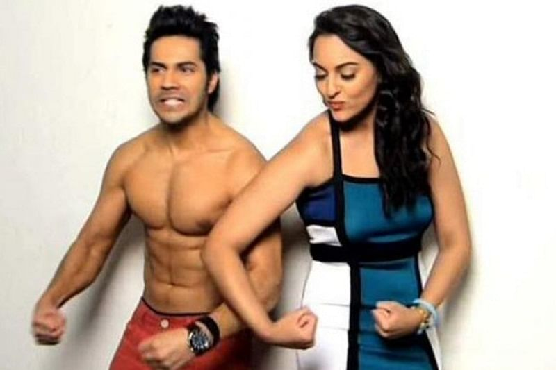 Watch Video: Sonakshi Sinha scolds Varun Dhawan for calling her Bhabhi