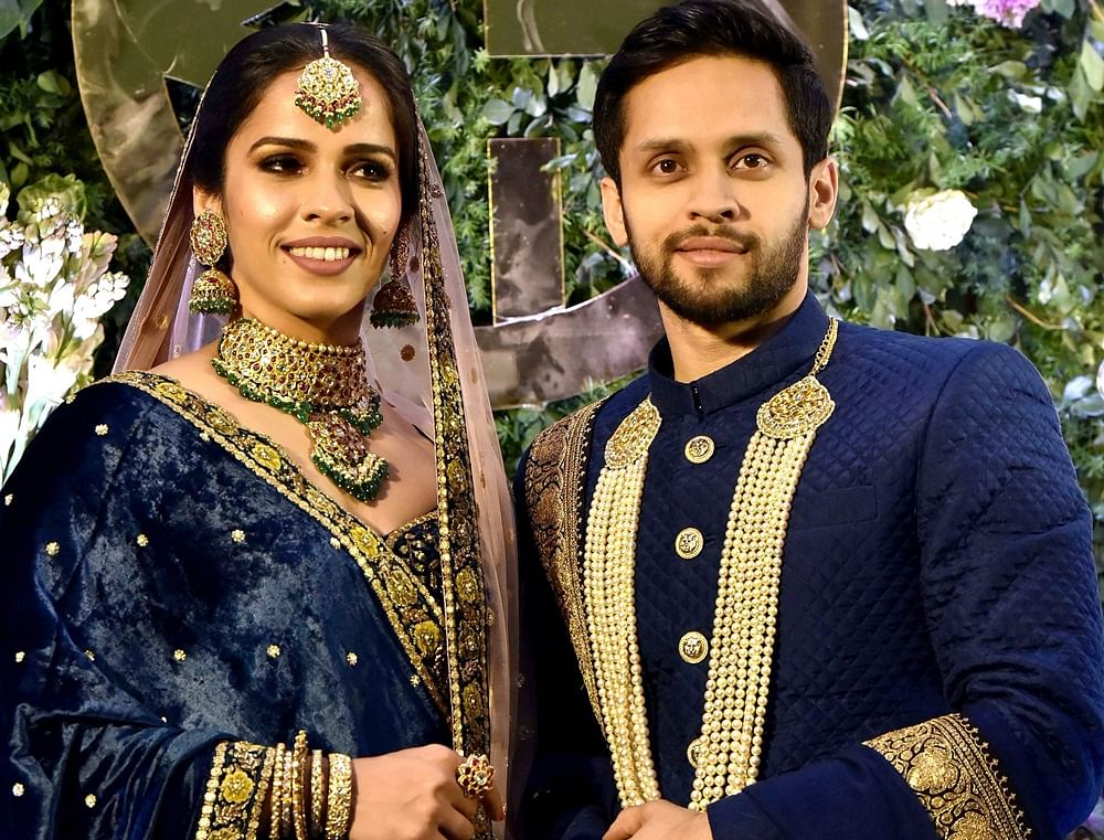 Saina Nehwal, Parupalli Kashyap host grand wedding reception party in Hyderabad