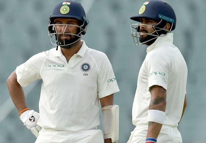India vs Australia 2nd Test Day 2: Kohli, Pujara take India to 70 for 2 at tea