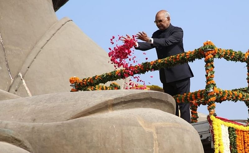President Kovind visits Statue of Unity, lays foundation stone for railway station at Kevadiya