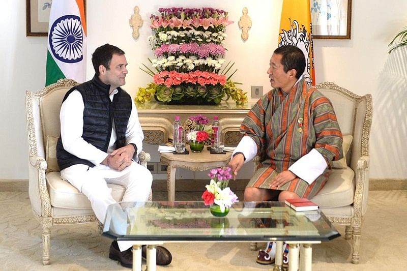 Rahul Gandhi meets Bhutan PM Lotay Tshering, discusses political situation in the region