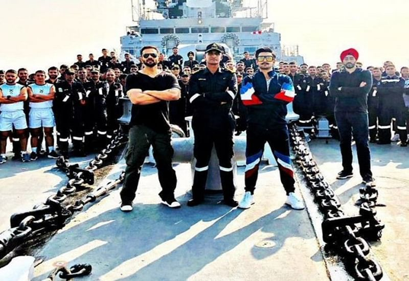 'Simmba' duo Ranveer Singh and Rohit Shetty have a rendezvous with the Indian Navy