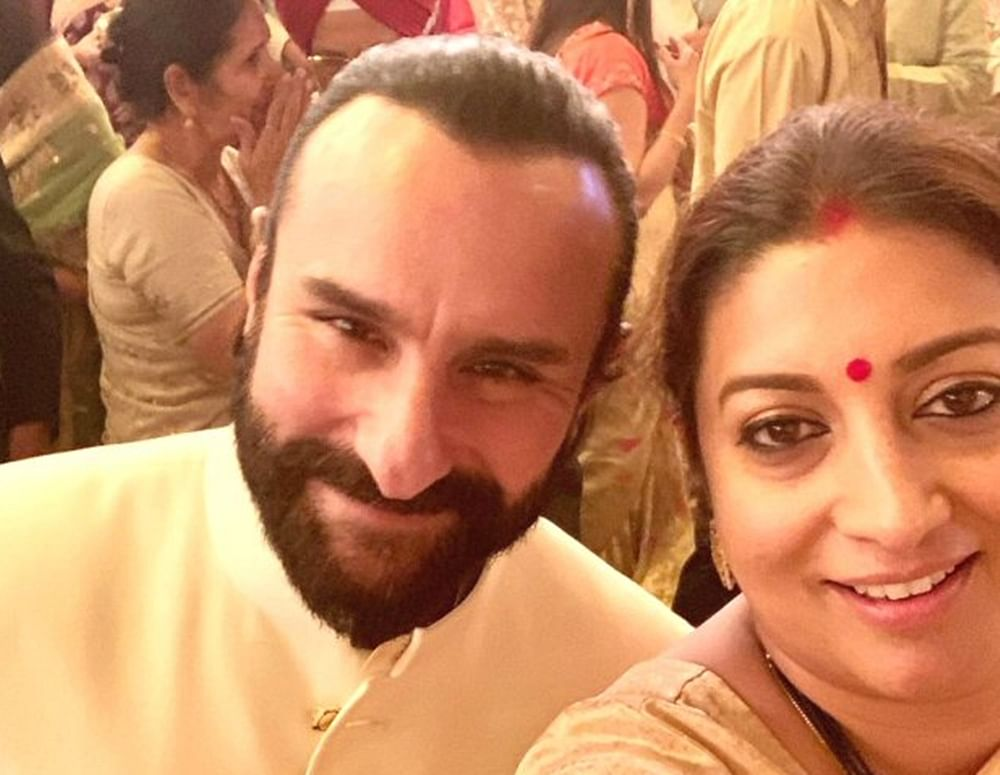 Smriti Irani reveals how Saif Ali Khan helped her 23 years ago on how to survive in the Industry