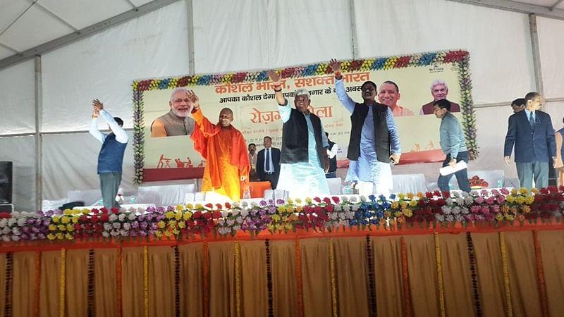 'Employment fair' turns unfair: Youths create chaos, throwing towels, chairs during 'Rojgar Mela' in UP