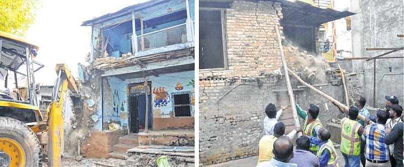 UMC demolishes illegal cattle sheds, other constructions