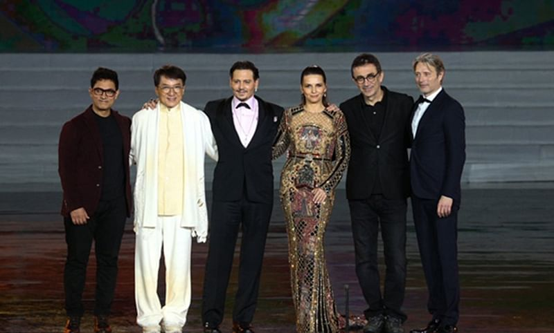 Aamir Khan shares stage with Johnny Depp, Jackie Chan and others in China