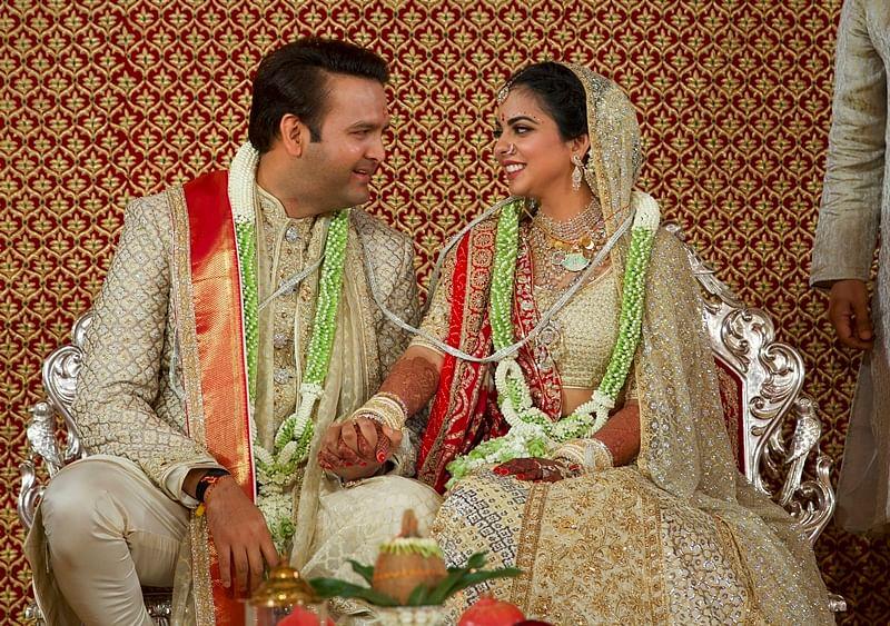 Mumbai: Newlyweds Isha Ambani and Anand Piramal