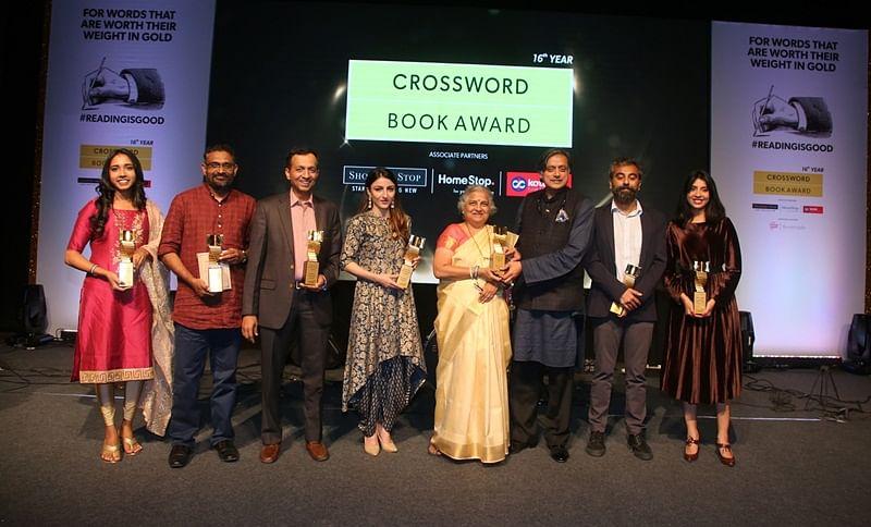 Shashi Tharoor, Sudha Murty, Ruskin Bond, Soha Ali Khan and Benyamin win big at the 16th Crossword Book Award