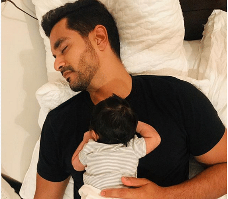 Neha Dhupia shares an adorable picture of daughter Mehr and husband Angad Bedi; see pic
