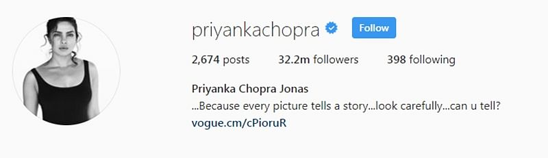Priyanka Chopra changes name on social media, takes Nick Jonas' surname