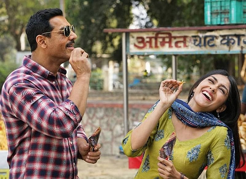 BATLA HOUSE: John Abraham and Mrunal Thakur caught in a candid moment in this new photo