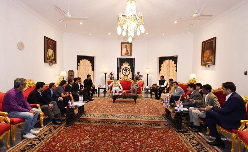 Bollywood delegation meets PM Modi to discuss uniform rates of GST for the fraternity