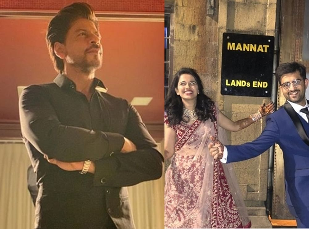 Shah Rukh Khan notices couple posing outside Mannat right after their marriage; here's what he did