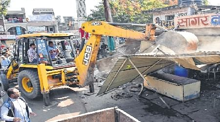 UIjjain: 36 encroachments in Narsing Ghat razed