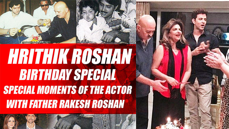 Hrithik Roshan BIRTHDAY Special-Special Moments Of The Actor With Father Rakesh Roshan