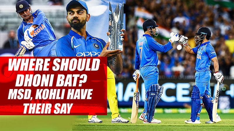 Where Should Dhoni Bat? MSD, Kohli Have Their Say