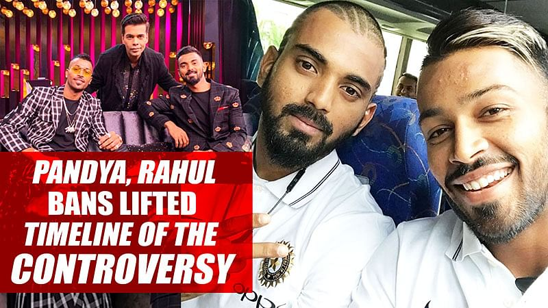 Pandya, Rahul bans lifted, Timeline of the CONTROVERSY