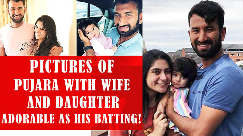 These Endearing Pictures Of Pujara With Wife And Daughter Are As Adorable As His Datting!