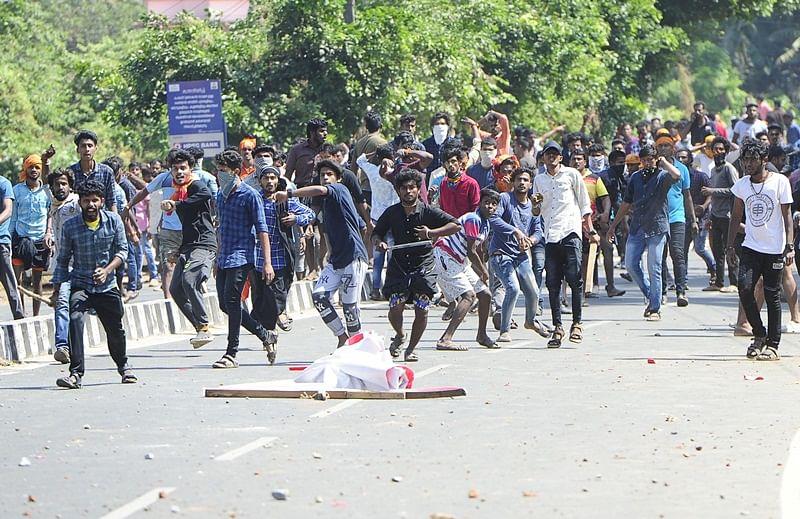 Protests break out after 2 women of menstrual age begin trek to Sabarimala