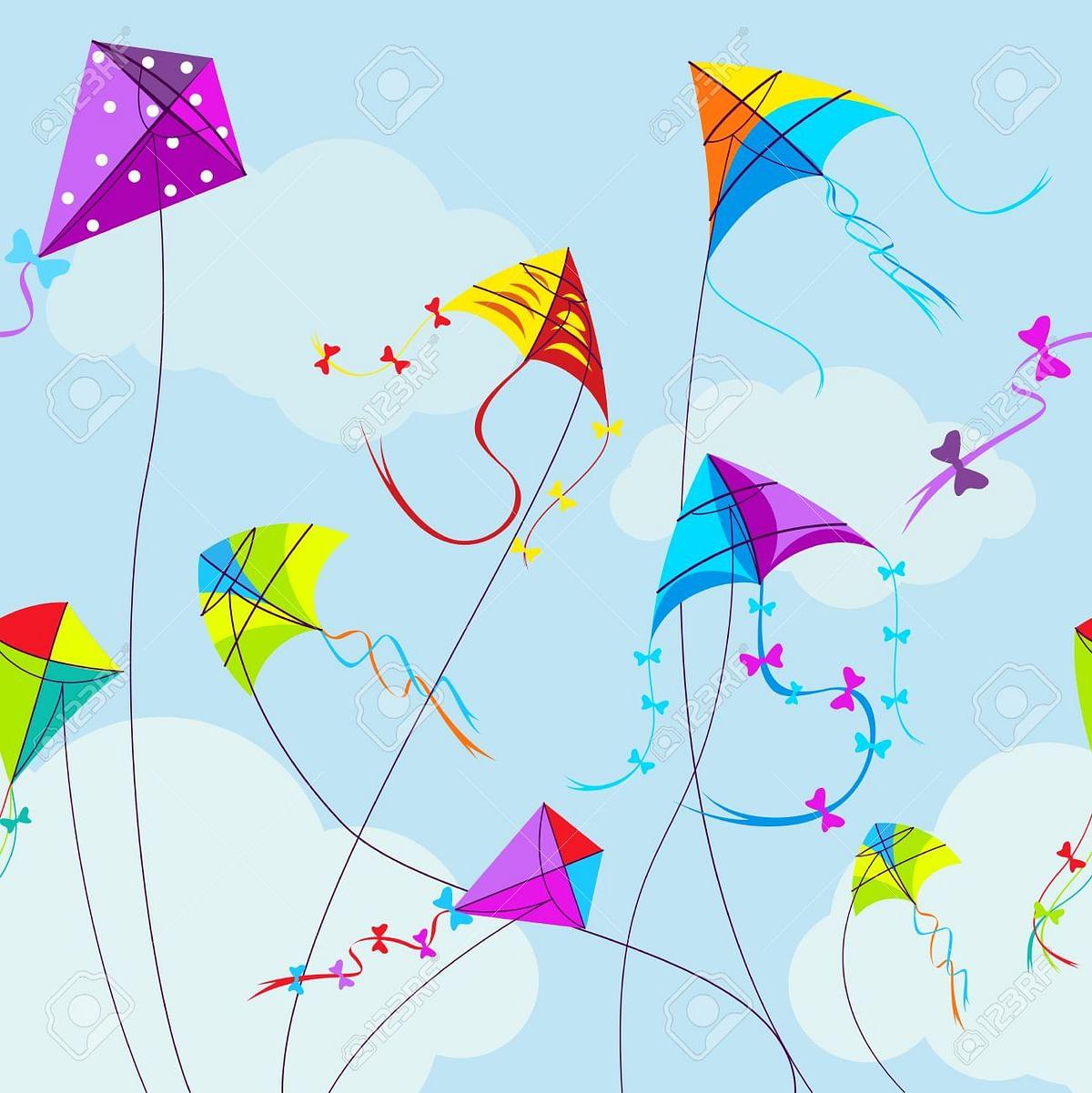 Bhopal: Colorful kites dot city skyline on Makar Sankranti eve
