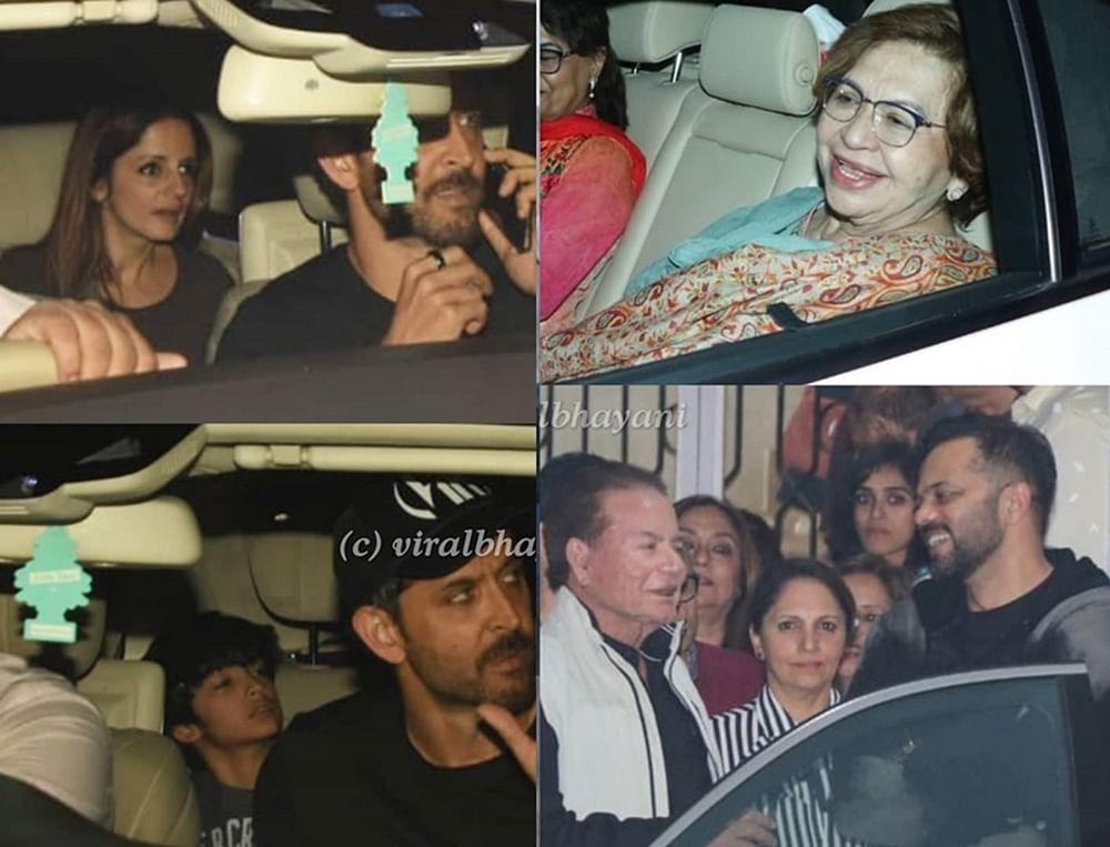 In Pics: Hrithik Roshan, Sussanne Khan, Salim Khan attend 'Simmba' special screening