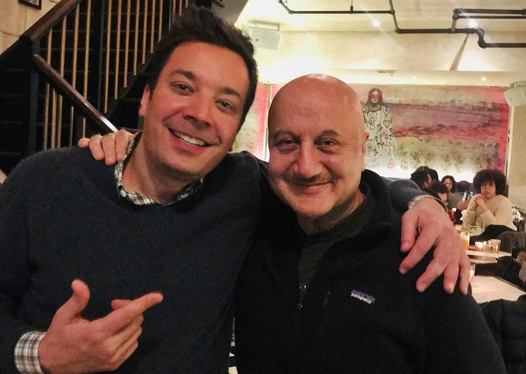Anupam Kher meets 'The Tonight Show' host Jimmy Fallon; see pic