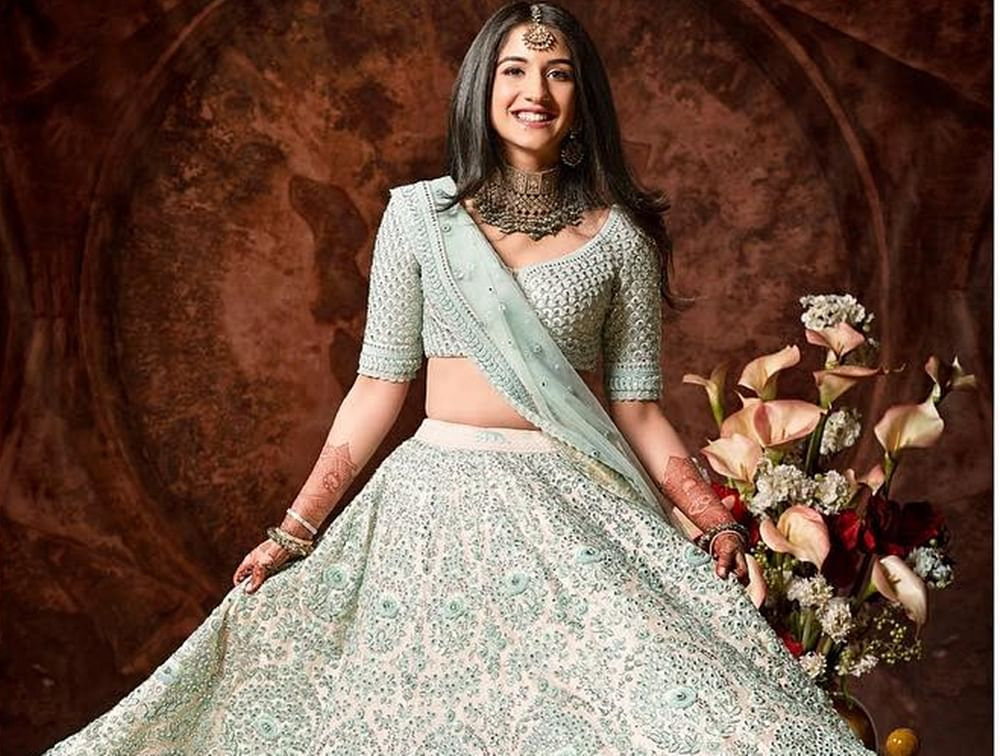 Unseen pic of Anant Ambani's rumoured GF Radhika Merchant in Sabyasachi is surreal