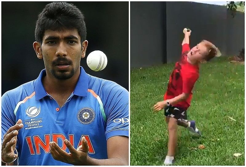 Australian boy tried to imitate Jasprit Bumrah's unique bowling style, did he succeed? Watch video to find out