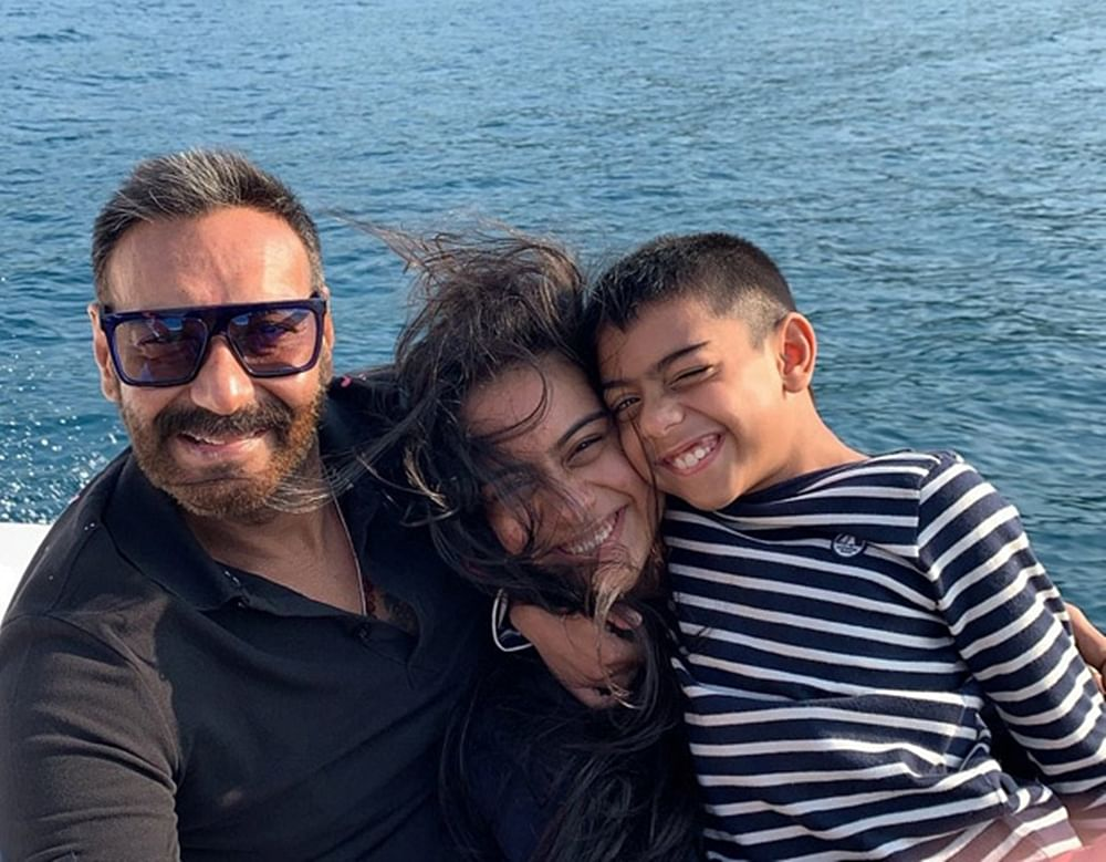 This holiday pic of Ajay Devgn with his kids will make you want to plan a Family Vacation Right Now