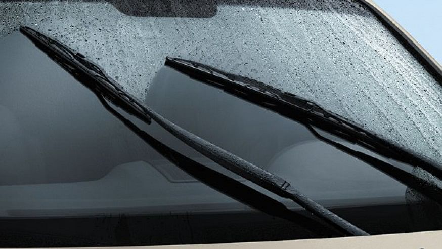 Car's windshield wipers forecast weather