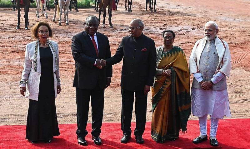 South Africa President Cyril Ramaphosa, Chief Guest at Republic Day parade, arrives in Delhi