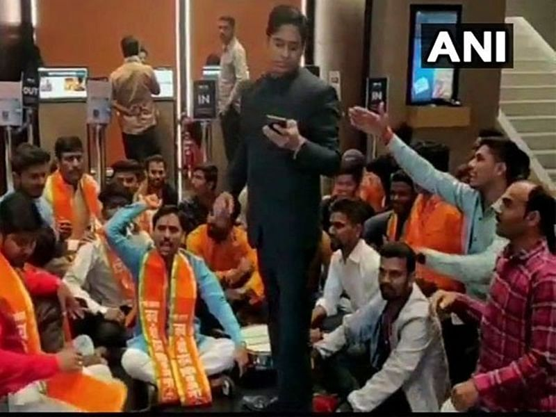 Mumbai: Shiv Sena workers stage protest inside theatre as they did not display 'Thackeray' movie poster