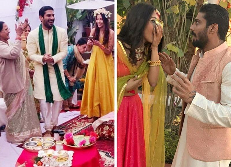 See Pics: Prateik Babbar, Sanya Sagar are all smiles at their pre-wedding festivities