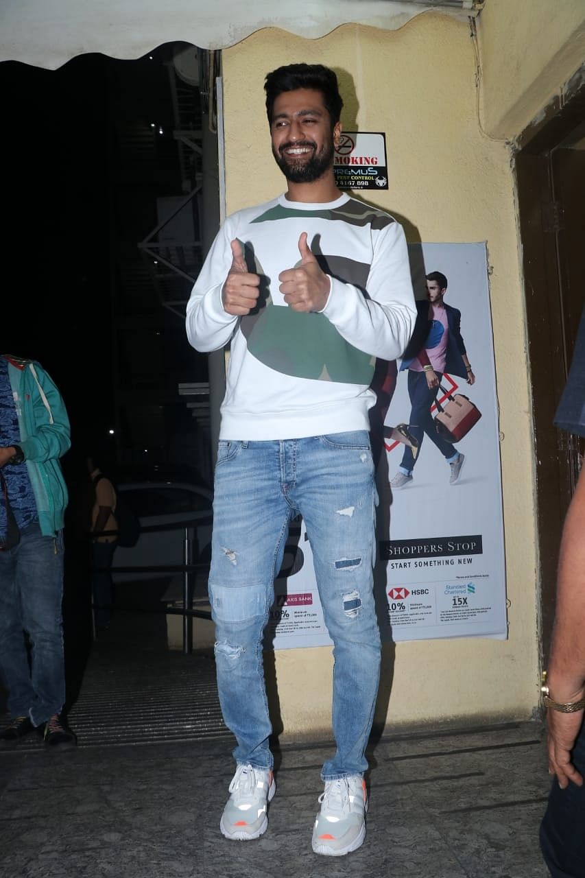 Spotted! Vicky Kaushal's alleged girlfriend Harleen Sethi attends 'Uri' special screening