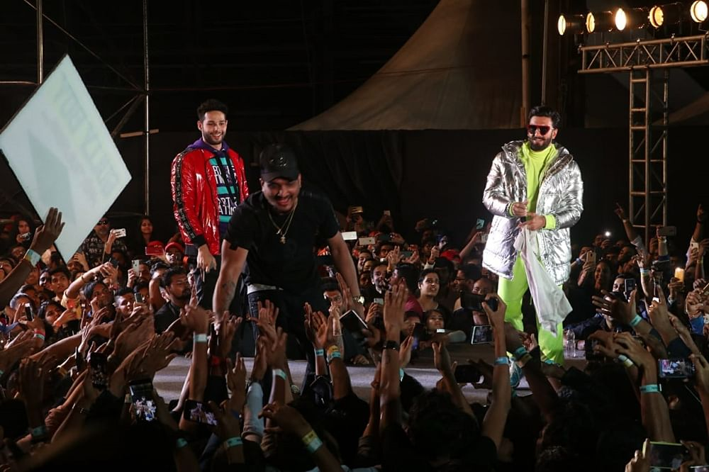 Ranveer Singh,Divine set the stage on fire at the music launch of 'Gully Boy'