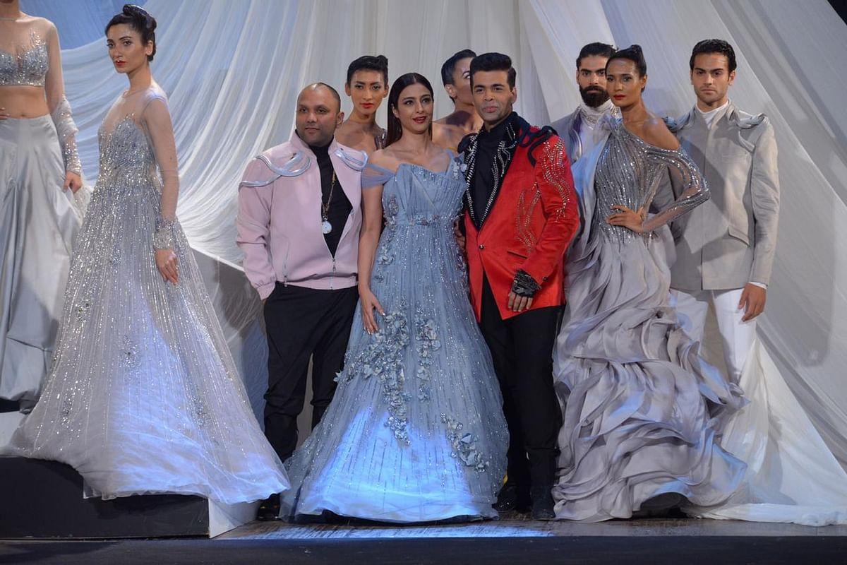 Lakme Fashion Week 2019 Opening Show: Karan Johar, Tabu in Gaurav Gupta's theatrical extravaganza