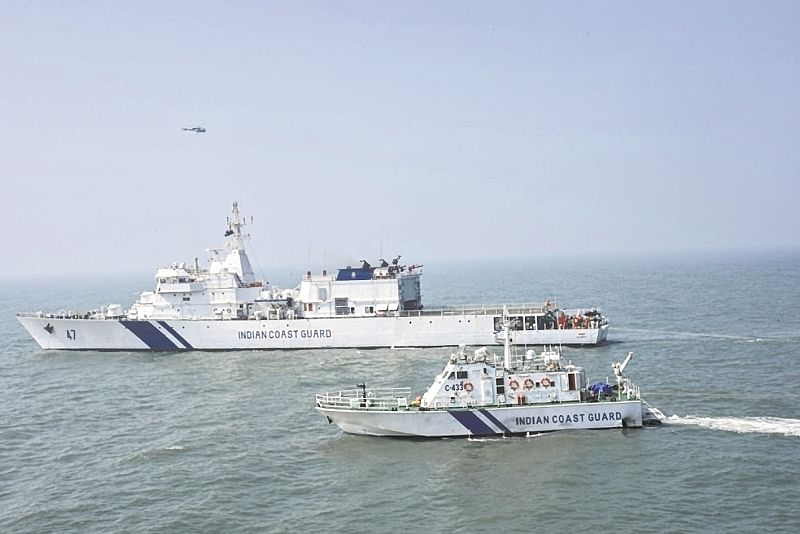 Coast Guard rescues two boats with 15 fishermen onboard off Gujarat coast