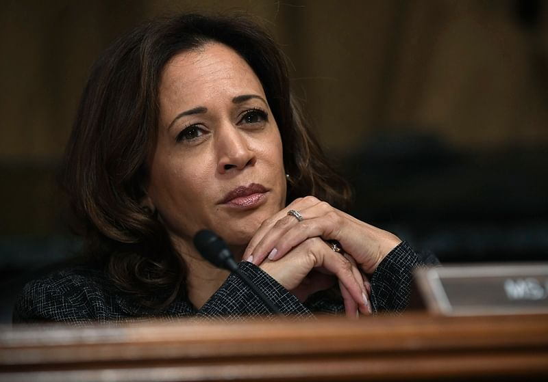 In file photo Sen. Kamala Harris, D-Calif., listens to Christine Blasey Ford testify before the Senate Judiciary Committee on Capitol Hill in Washington. AP/PTI