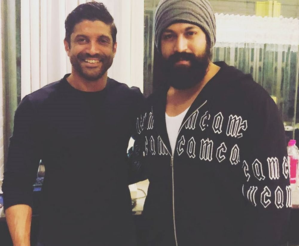 Farhan Akhtar confirms 'KGF' Chapter 2 in his latest Insta post with Yash