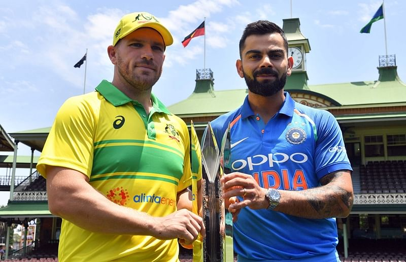 India's cricket team captain Virat Kohli and his Australian counterpart Aaron Finch.