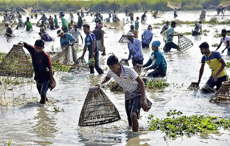 Assam: People celebrate annual harvest festival Magh Bihu with traditional fervor