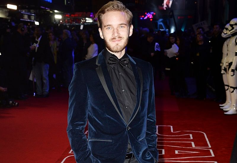 "LONDON, ENGLAND – DECEMBER 16: PewDiePie attends the European Premiere of ""Star Wars: The Force Awakens"" at Leicester Square on December 16, 2015 in London, England. (Photo by Dave J Hogan/Dave J Hogan/Getty Images)"